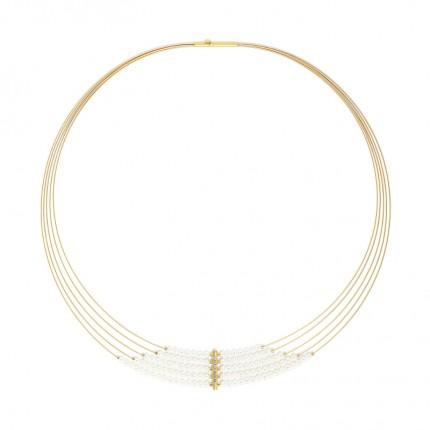 BERND WOLF Collier SENTRO Silber Goldplattierung Süßwasserzuchtperle 84107656-43