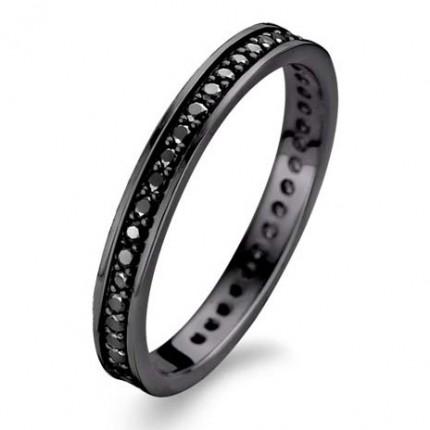 SPIRIT ICONS Ring Chic 2mm Silber Rutheniert 53073