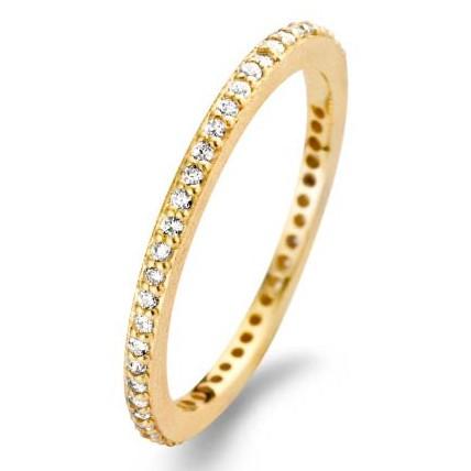 SPIRIT ICONS Ring Chic Rustic 1,5mm Silber Vergoldet 53052