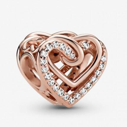 PANDORA ROSE Element Sparkling Entwined Hearts 789270C01