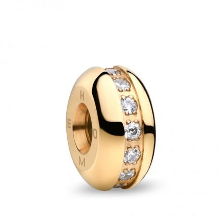 Bering Charm Edelstahl Gold Swarovski Home-2