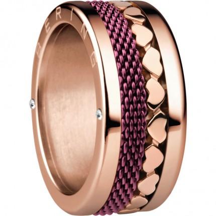 Bering Ringkombination Edelstahl Roségold Lila 520-VAL21R-X4