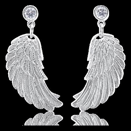 Engelsrufer Ohrhänger Flügel Silber Zirkonia ERE-WS