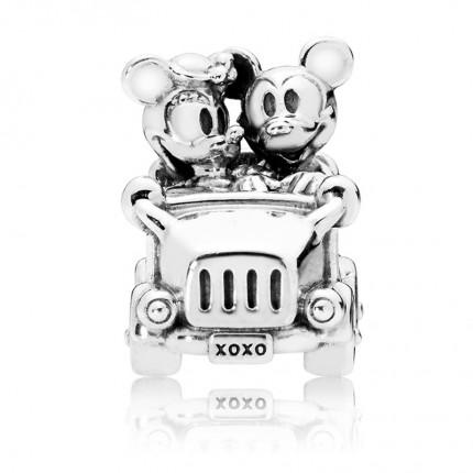 PANDORA Disney Silber Charm Mickey & Minnie Vintage Car 797174