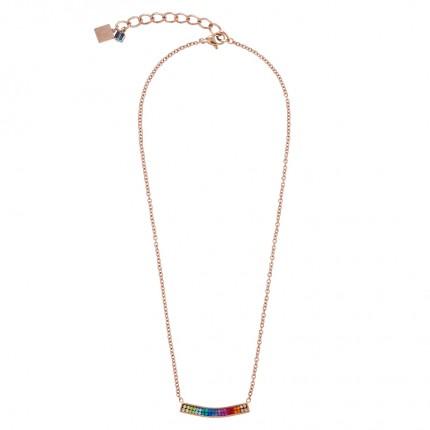 COEUR DE LION Collier Kristalle Pavé Roségold Multicolor 0214/10-1500