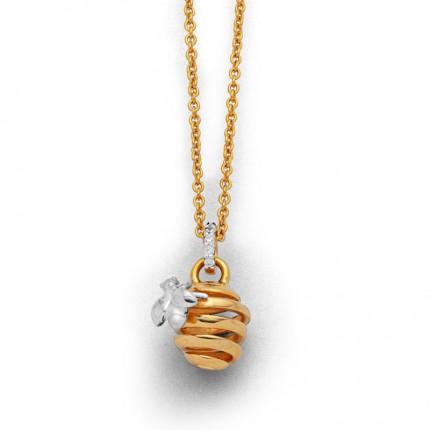 DUR Kette Silber Vergoldung Biene K2548