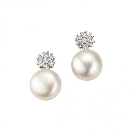 CEM Ohrschmuck Silber Perle BOS905150