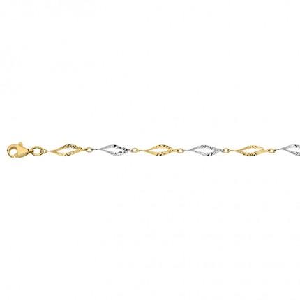 CEM Armband 333/-Gold Bicolor BAB306601