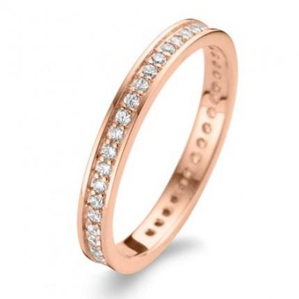 SPIRIT ICONS Ring Chic 2mm Silber Rosévergoldet 53074