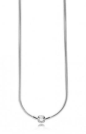 PANDORA Silberkette mit Kugelverschluss glatt 590742HV