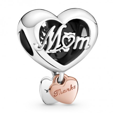 PANDORA Silberelement Thank You Mum Heart 789372C00