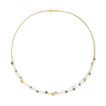 BERND WOLF Collier LACIALA Silber Goldplattierung Kyanit 85126796-43
