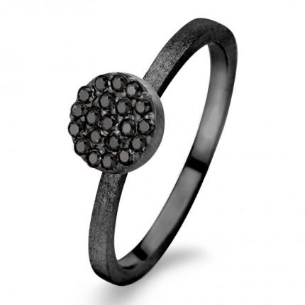 SPIRIT ICONS Ring Mini Silber Rutheniert 53213
