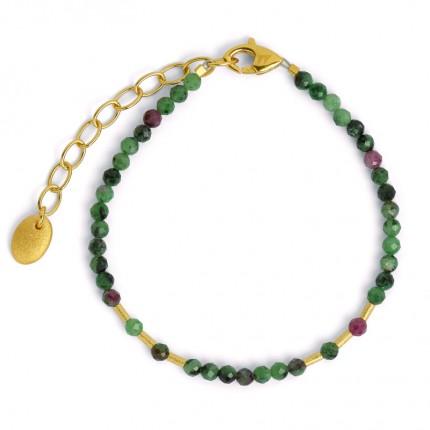 BERND WOLF Armband CLETRA Silber Goldplattierung Rubin-Zoisit 82179086
