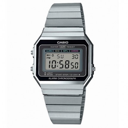 Casio Armbanduhr Vintage Edgy Collection Edelstahl A700WE-1AEF