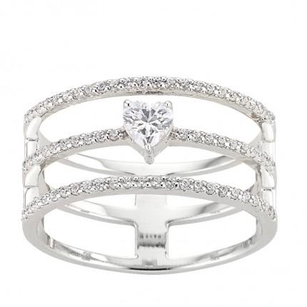 CEM Ring 925/- Silber Zirkonia S-00457R