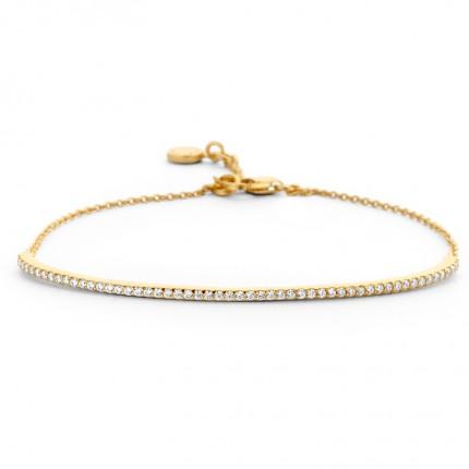 SPIRIT ICONS Armband Purity Silber Vergoldet Zirkonia 20312