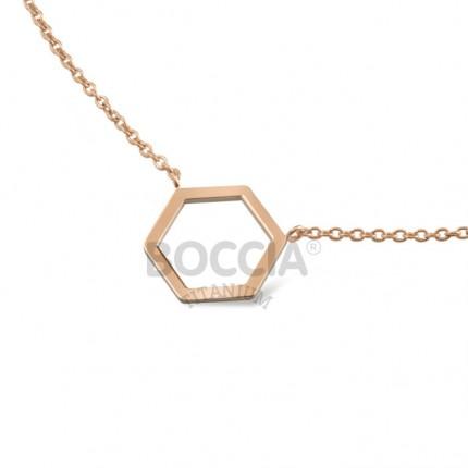 Boccia Collier Titan Hexagon Roségold 08014-03