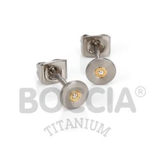 Boccia Ohrstecker Titan Brillanten Bicolor 0545-02
