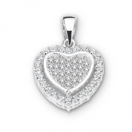 CEM Anhänger Herz Silber Zirkonia BAH904878