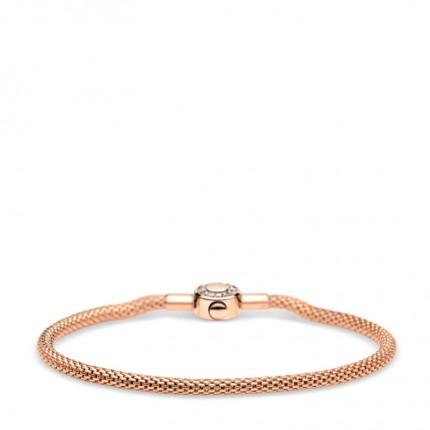 Bering Armband Edelstahl Rosévergoldet Milanaise Zirkonia 616-30-X0