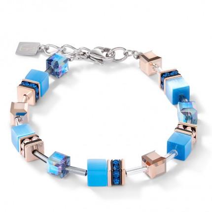 COEUR DE LION Armband Geo Cube Blau 4016/30-0700