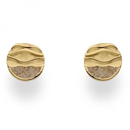 DUR Ohrstecker Silber Gold Sand Ebbe & Flut O5049