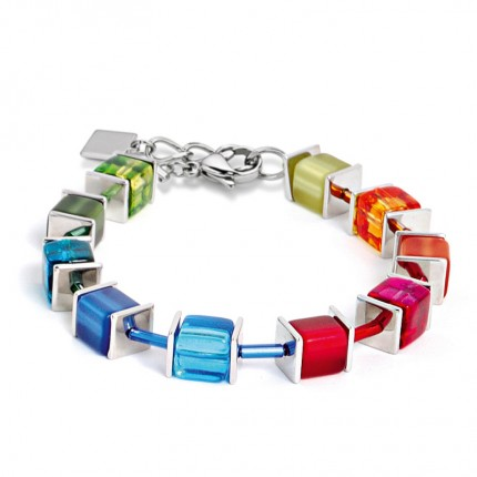 COEUR DE LION Armband Geo Cube Multicolor Rainbow 2176/30-1520