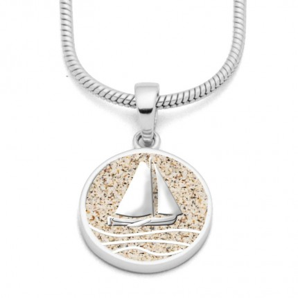 DUR Anhänger Silber Ahoi Strandsand P3709