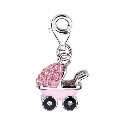 CEM Charms Anhänger Kinderwagen Zirkonia Silber CMM295