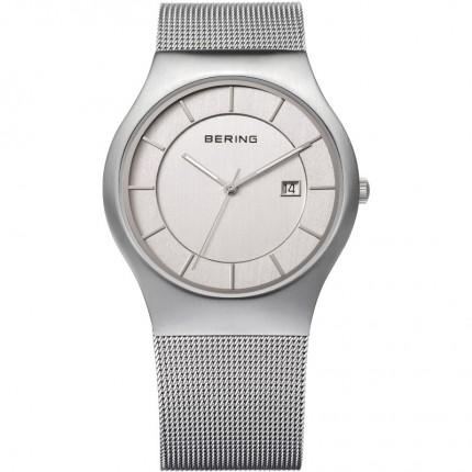 Bering Herrenuhr Classic Milanaise Silber 11938-000