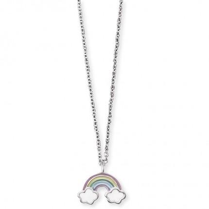 Herzengel Kette Silber Regenbogen HEN-RAINBOW