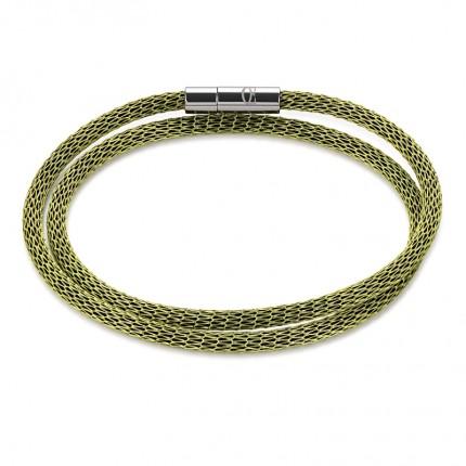 COEUR DE LION Armband Mesh Versilbert & Emaille Grün 0111/31-0500