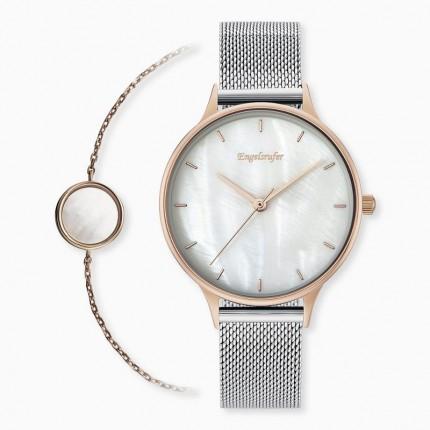 Engelsrufer Armbanduhr + Armband Set Perlmutt ERWO-PEARL-01