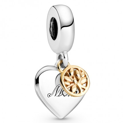 PANDORA Silberelement Family Tree & Heart 799366C00