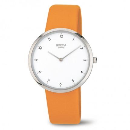 Boccia Titanium Trend Damenuhr Leder Orange 3309-01
