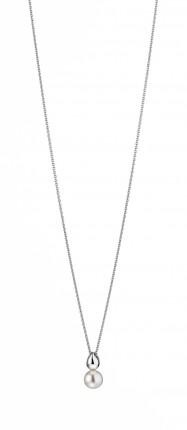 ADRIANA Collier Silber Rhodiniert Süßwasserperle R171