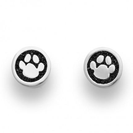 DUR Ohrstecker Silber Lucky Dog Lavasand O4836