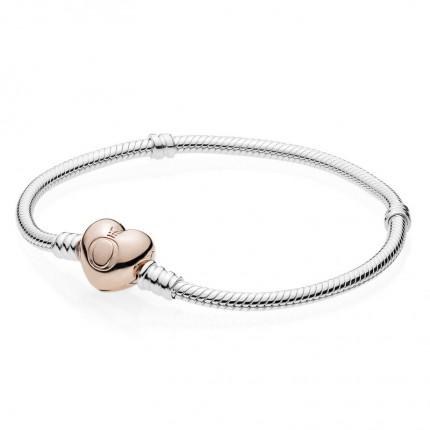 PANDORA ROSE Armband mit Herz-Verschluss 580719