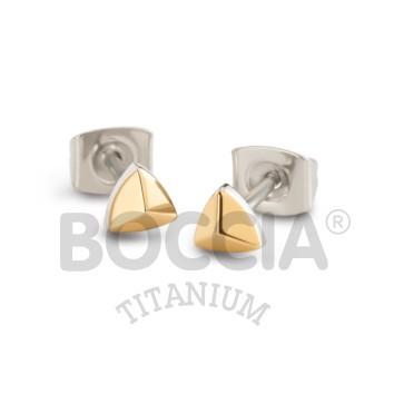 Boccia Ohrschmuck Titan Gold 05015-02
