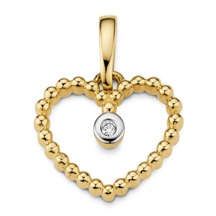 CEM Anhänger 585/- Gold Herz Brillant G5-00114A