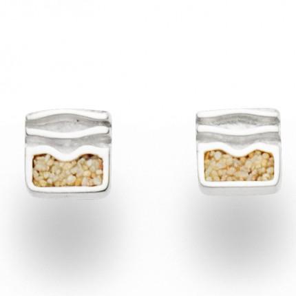 DUR Ohrstecker Silber Sand Ebbe & Flut O5133