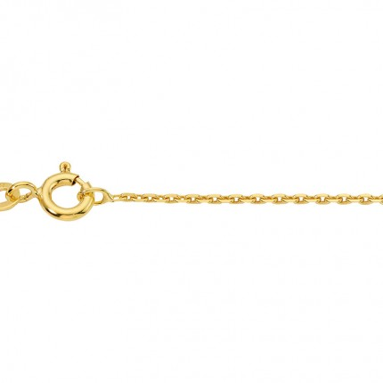 CEM Collierkette 925/- Silber vergoldet Anker geschliffen BGAV940