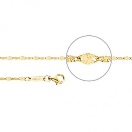 DER KETTENMACHER Plättchenarmband Silber Gold 2,2mm PL-19G