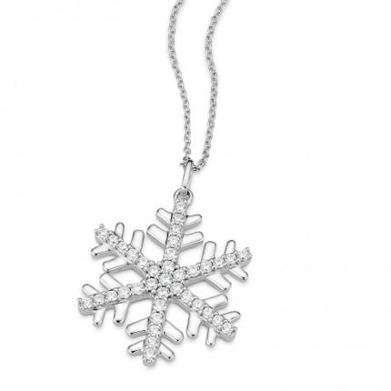 CEM Collier Silber Schneeflocke S-00597C