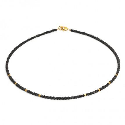 BERND WOLF Collier RABEA Silber Goldplattierung Hämatin 84434276-43
