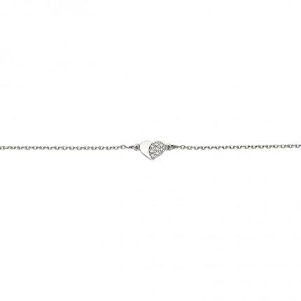 CEM Armband Silber Herz BAS96307/18