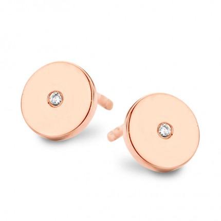 SPIRIT ICONS Ohrschmuck Pulse Silber Rosévergoldet Diamant 40584