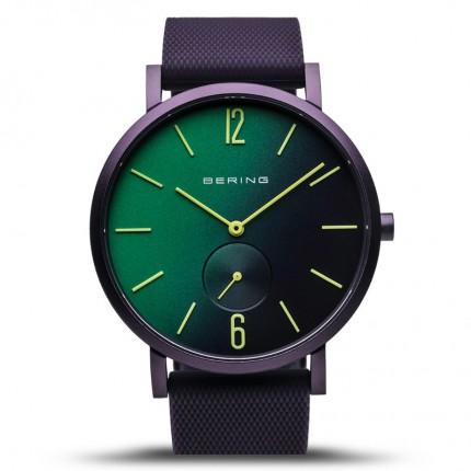 Bering Armbanduhr Unisex Aurora Silikonband Lila 16940-999