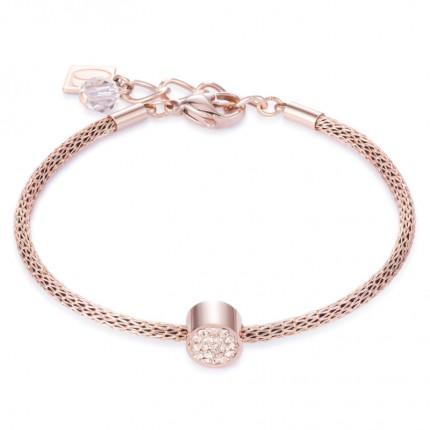 COEUR DE LION Armband Pavé-Kristalle Roségold 0218/30-0225